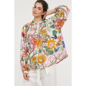 GP & J Baker x H&M Floral Button Front Blouse